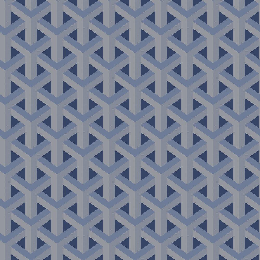 Glistening Trident Wallpaper - Navy - by Albany