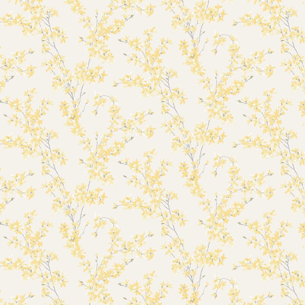 Forsythia Wallpaper - Sunshine - by Laura Ashley