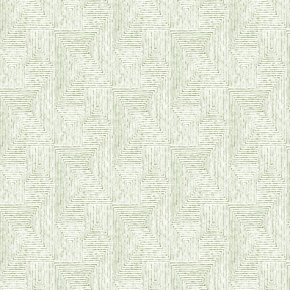 Merritt Wallpaper - Green - by A Street Prints