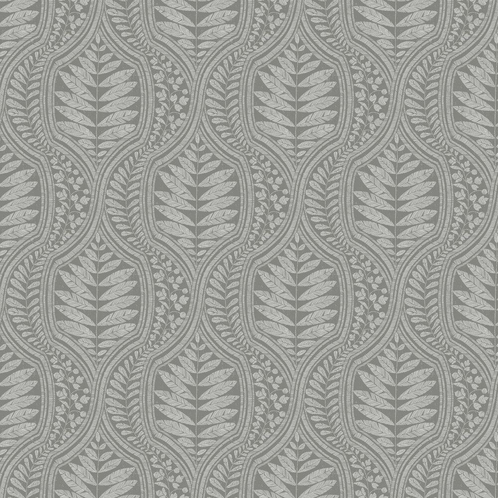 Juno Wallpaper - Dark Grey - by A Street Prints