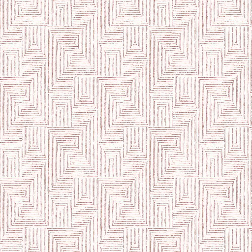 Merritt Wallpaper - Coral - by A Street Prints