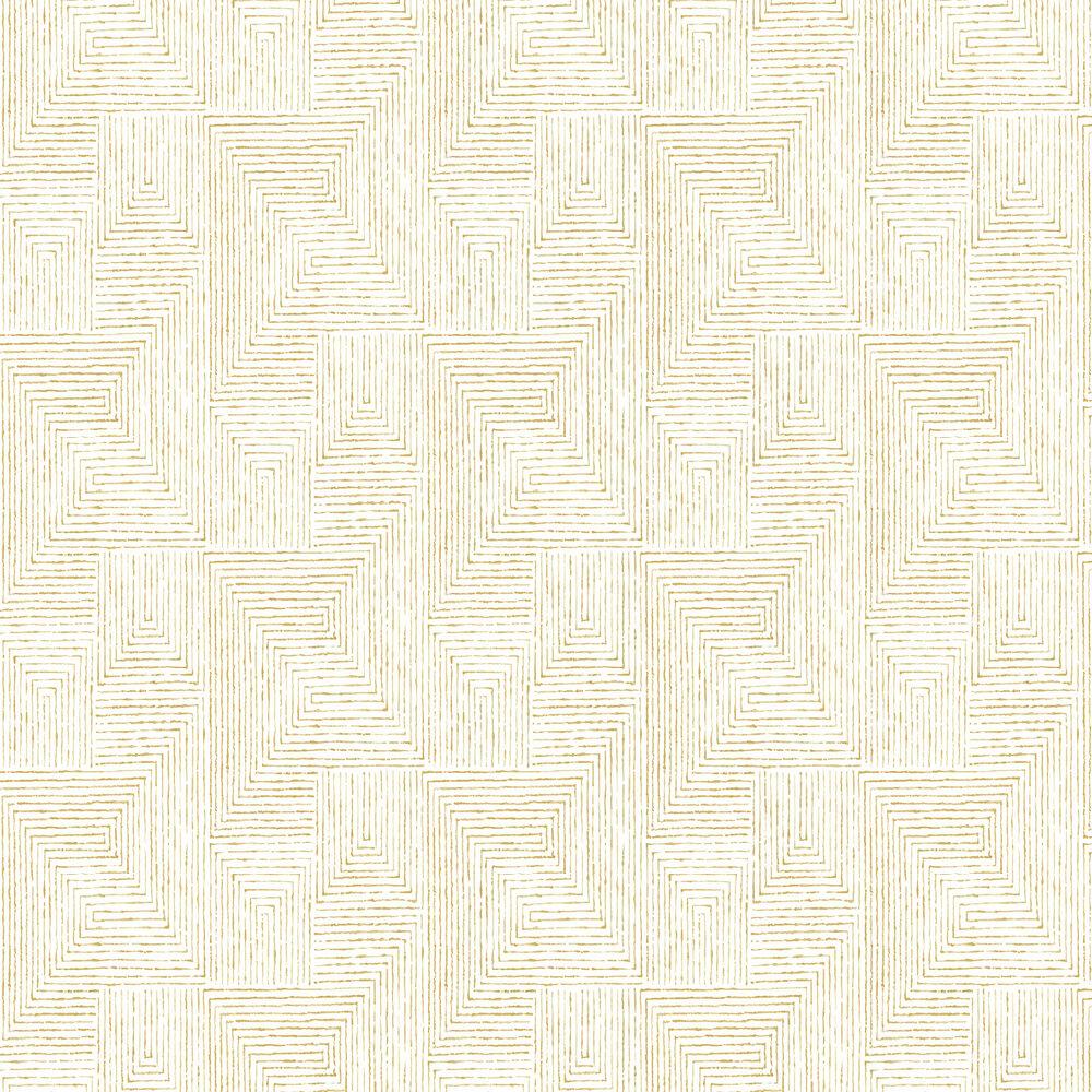 Merritt Wallpaper - Yellow - by A Street Prints