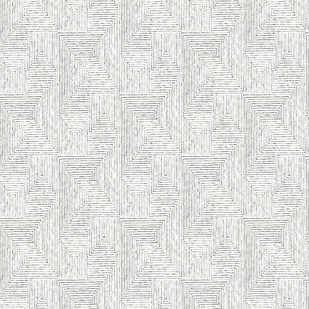 Merritt Wallpaper - Black - by A Street Prints