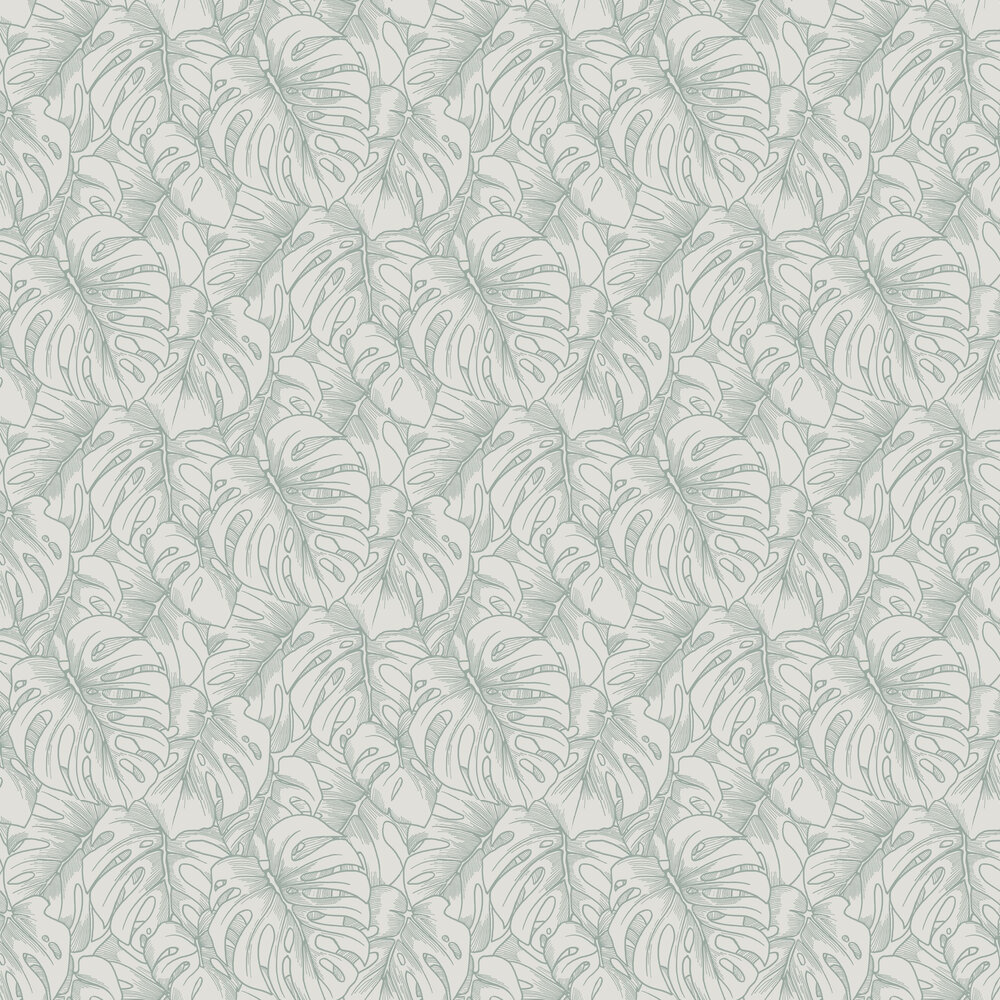 Balboa Wallpaper - Green Flock - by A Street Prints