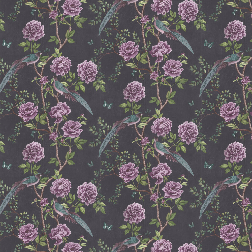 Vintage Chinoiserie Wallpaper - Midnight - by Paloma Home