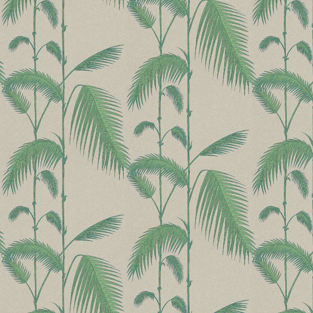 Cole & Son Palm Leaves Green / Cream Wallpaper - Product code: 66/2011
