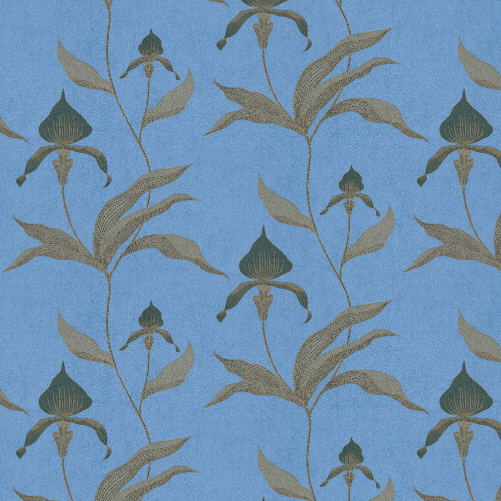 Cole & Son Orchid Blue / Brown Wallpaper - Product code: 66/4030