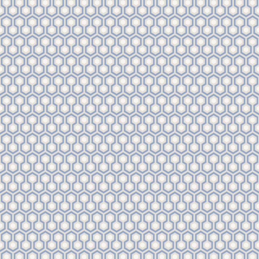 Hicks' Hexagon Wallpaper - Blue - by Cole & Son