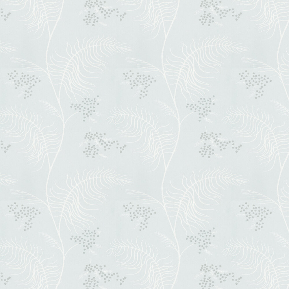 Mimosa Wallpaper - Silver - by Cole & Son