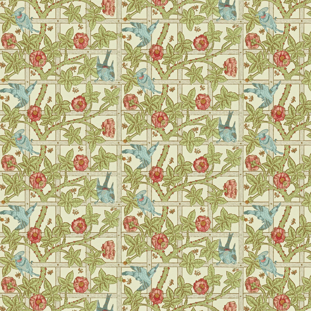 Morris Trellis Vanilla / Plaster Wallpaper - Product code: DMORTR101