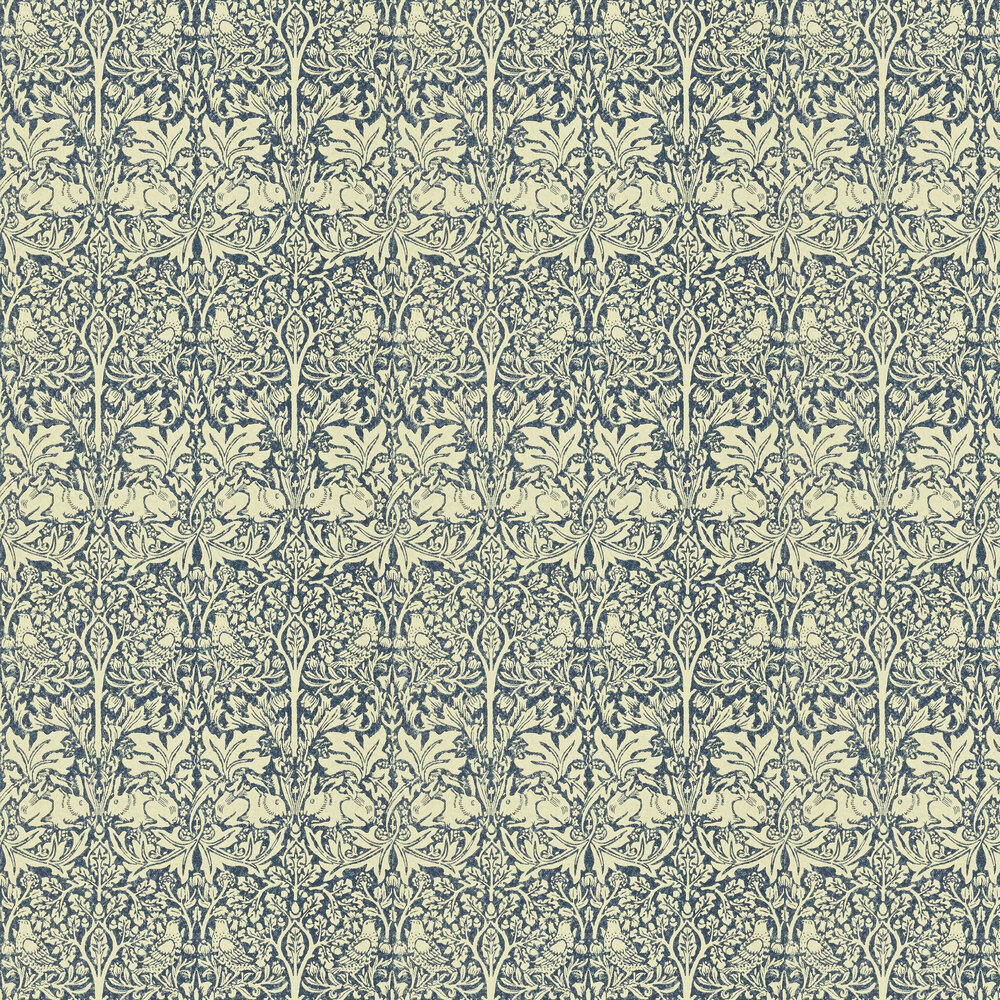 Morris Brer Rabbit Blue / Neutral Wallpaper - Product code: DMORBR105