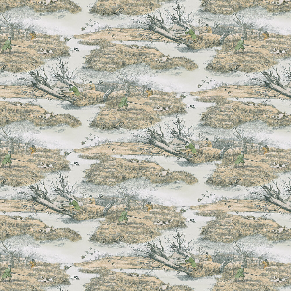 Lewis & Wood Alken Wildfowlers Beige / Off White Wallpaper - Product code: LW96