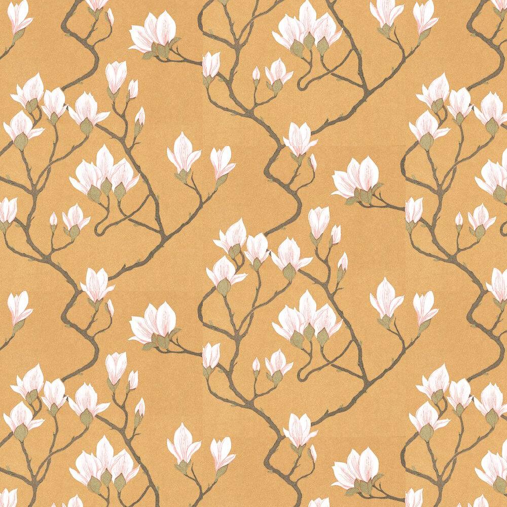 Magnolia  Wallpaper - Gold - by Cole & Son