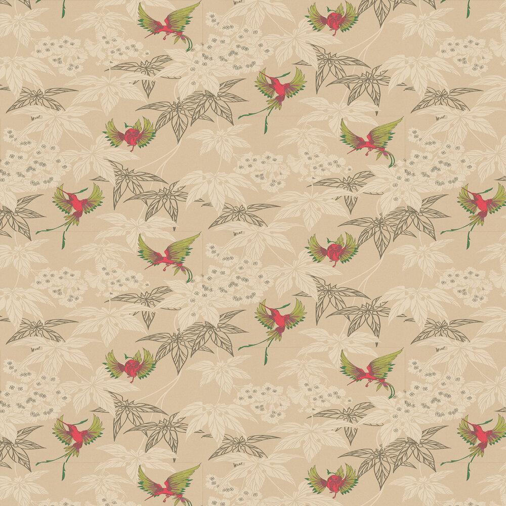 Osborne & Little Grove Garden Gold / Lime / Rose Wallpaper - Product code: W5603/04