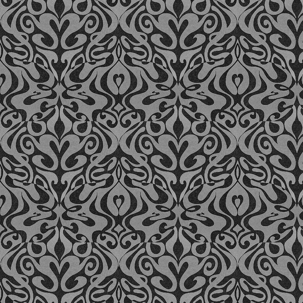 Cole & Son Woodstock Silver Foil / Black Wallpaper - Product code: 69/7127