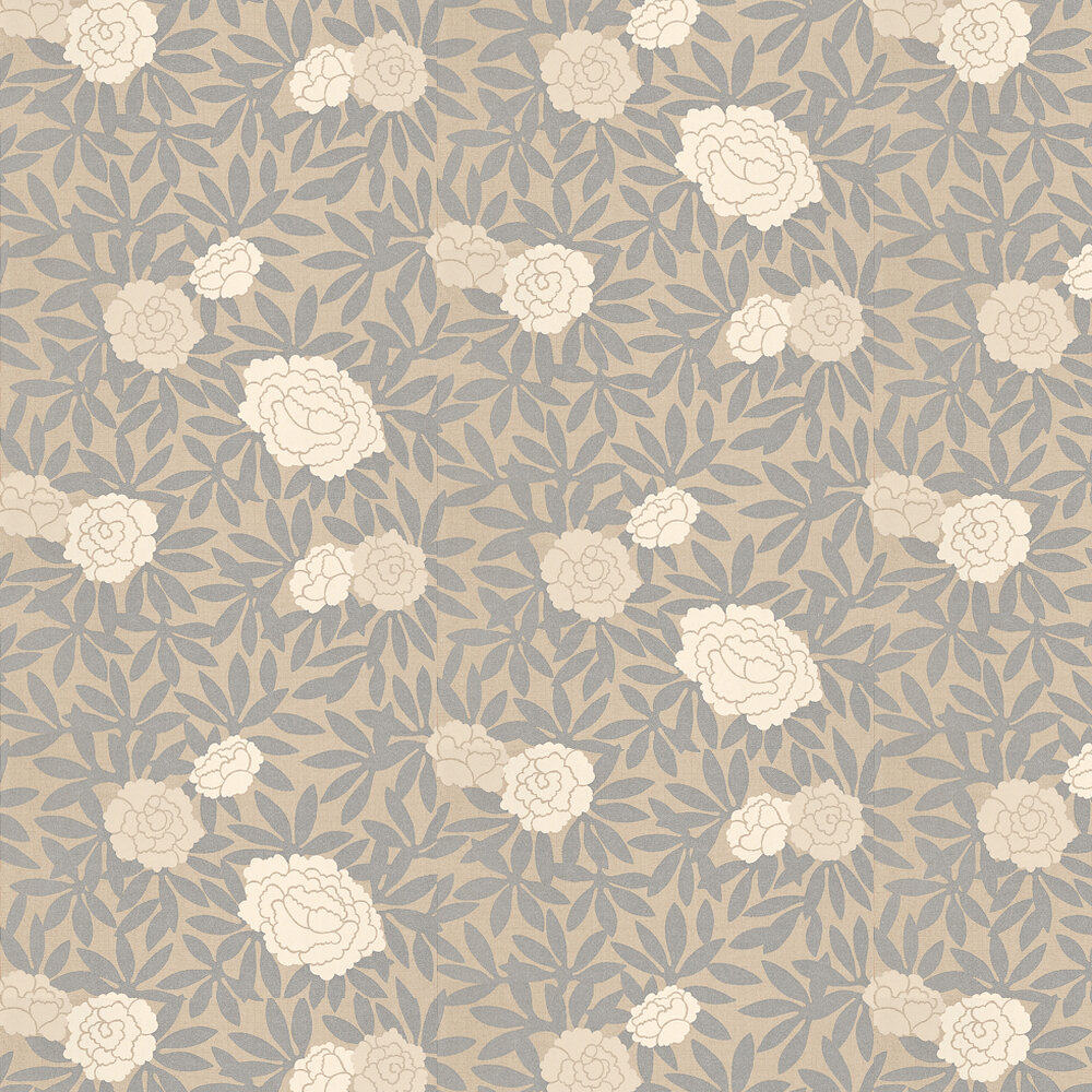 Osborne & Little Asuka Silver / Beige Wallpaper - Product code: W5220-06
