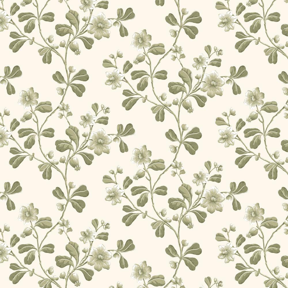 Broadwick St Wallpaper - Apple Green - by Little Greene