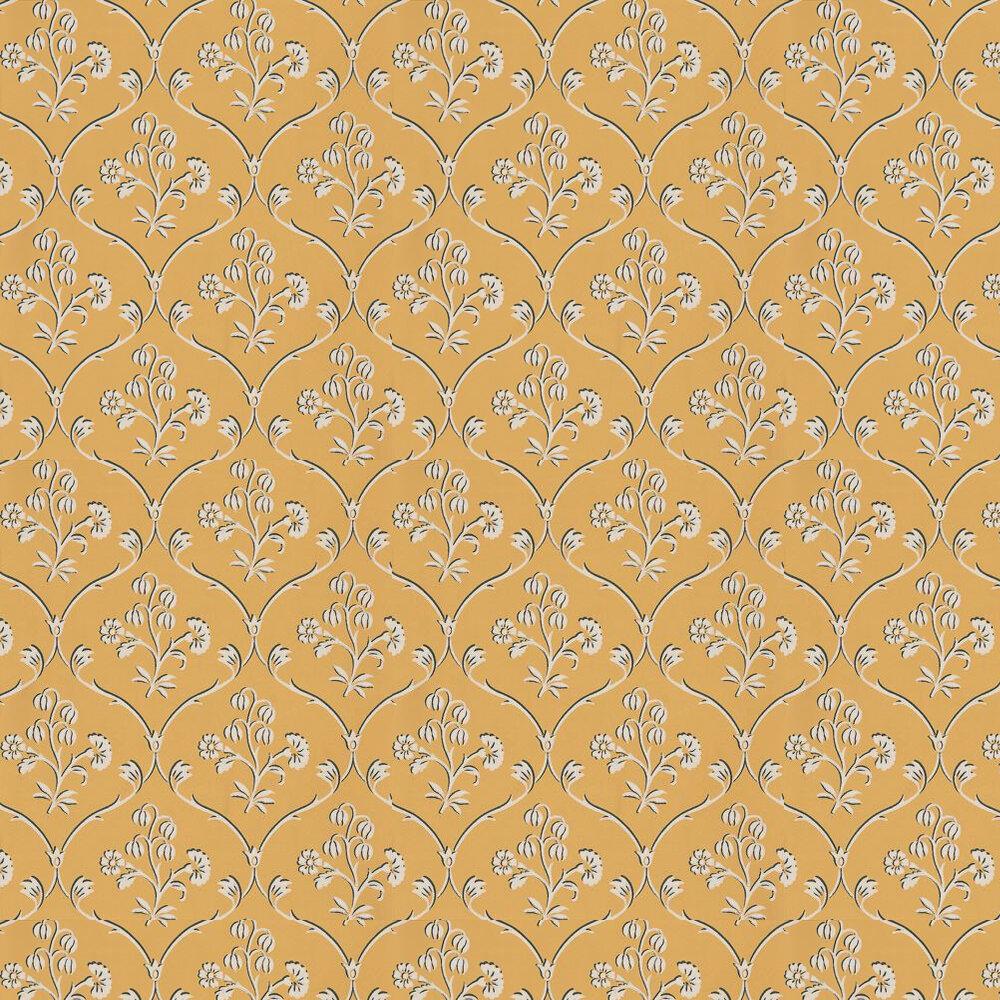 Cranford Wallpaper - Wheat Yellow - by Little Greene