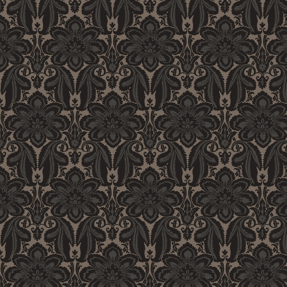 Albemarle Wallpaper - Charcoal - by Little Greene