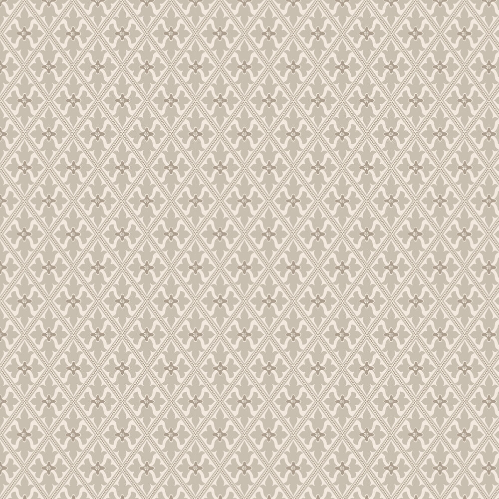 Bayham Abbey Wallpaper - Pale Grey and Stone - by Little Greene