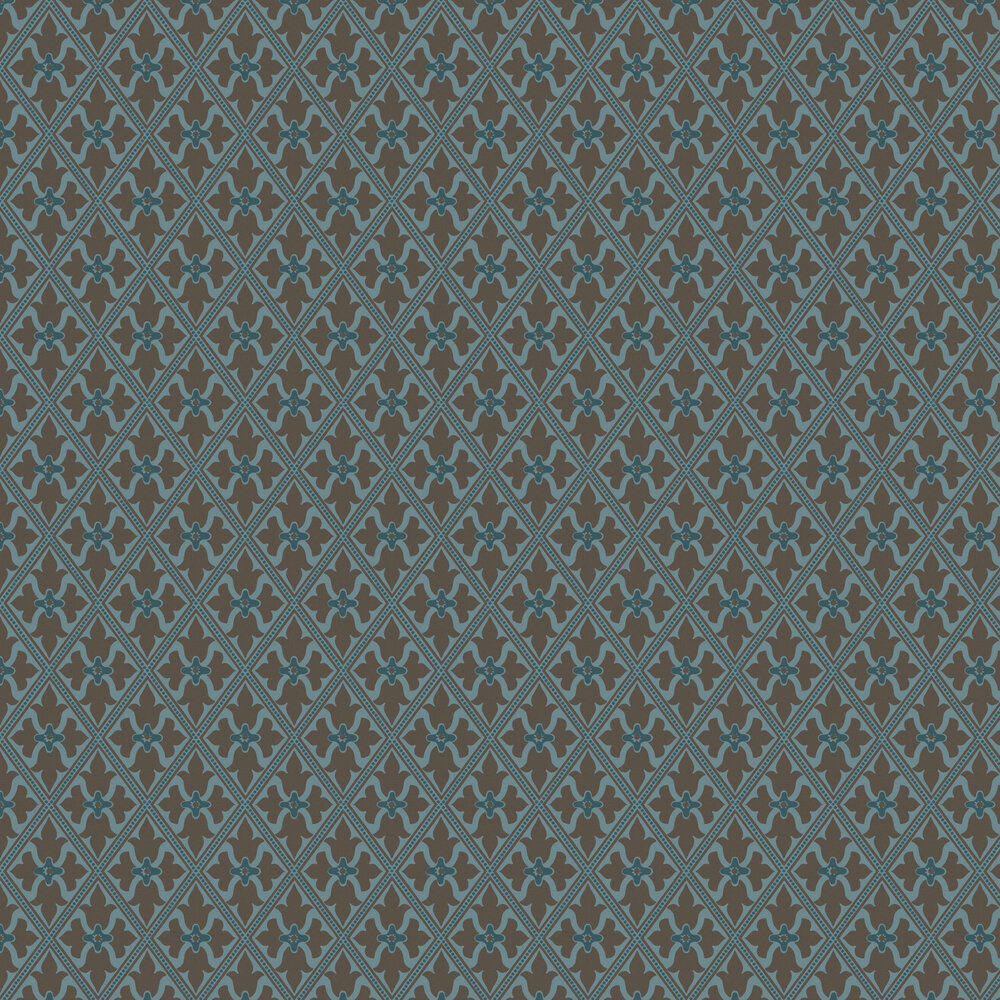 Bayham Abbey Wallpaper - Blue - by Little Greene