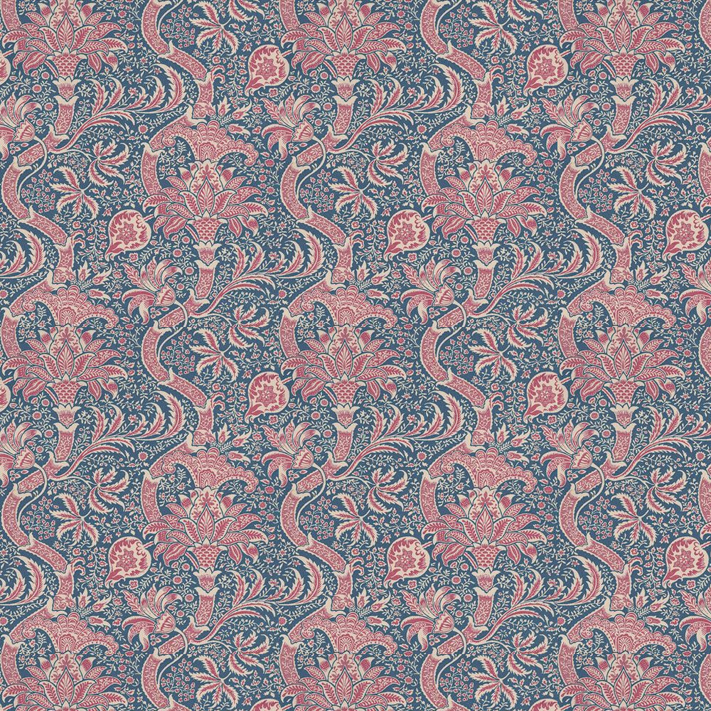 Morris Indian Indigo / Red Wallpaper - Product code: DMOWIN103