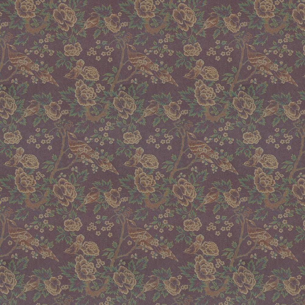 Songbirds By Anna French Gold Green Purple Wallpaper Sonnw098