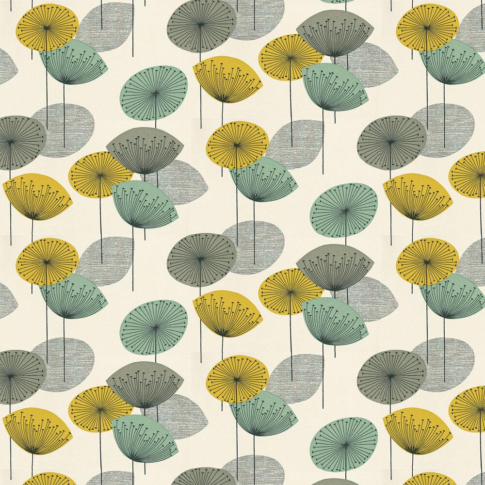 Dandelion Clocks Wallpaper - Chaffinch - by Sanderson