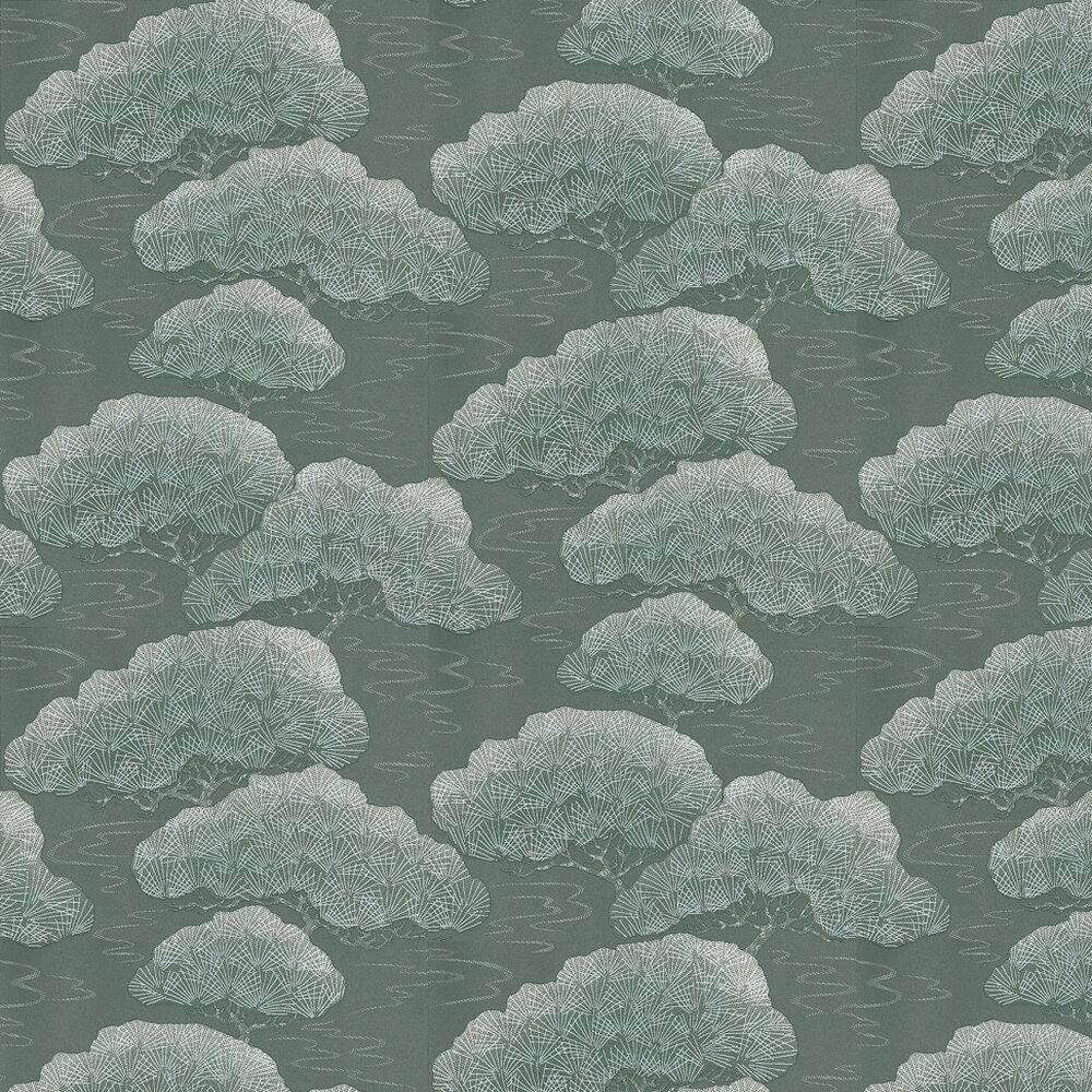Little Greene Silver Pine Silver Grey Wallpaper - Product code: 275PISILVE