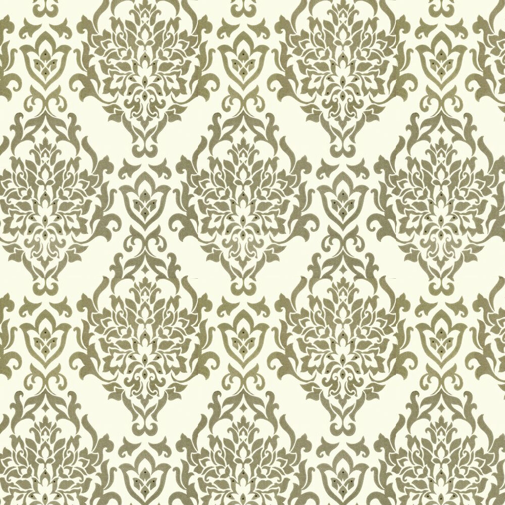 Venice Wallpaper - Light Gold / Off White - by Kandola