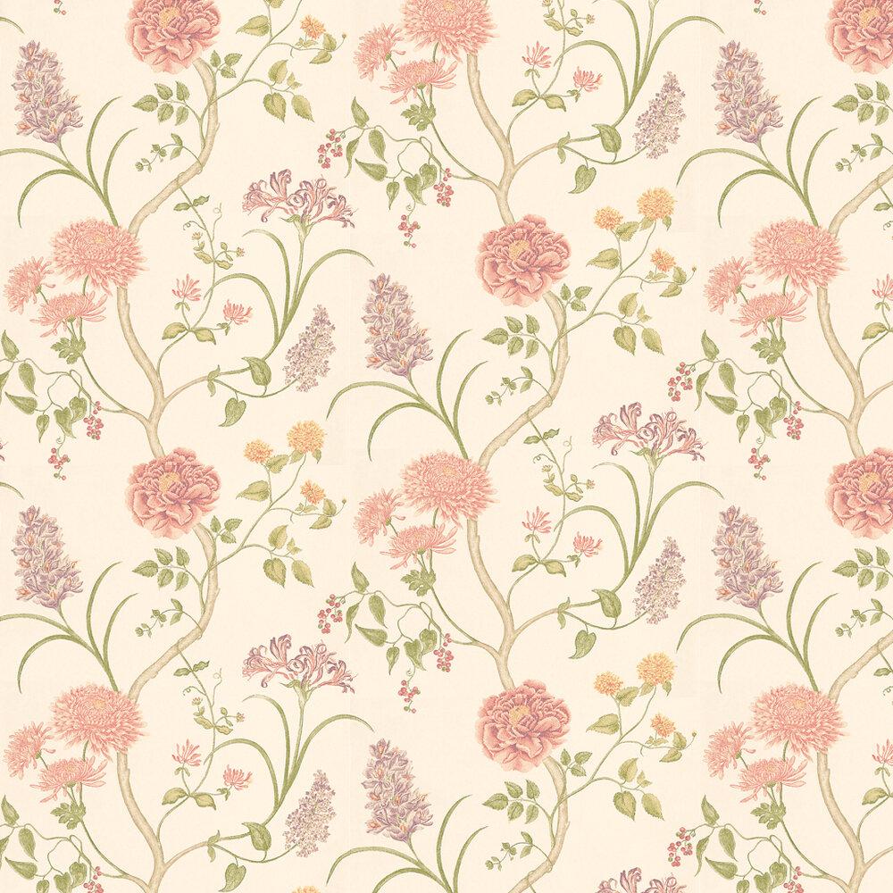 Summer Tree By Sanderson Pink Peach Wallpaper Wallpaper Direct