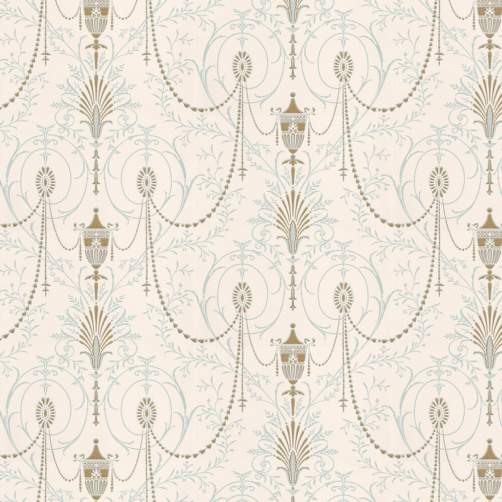 Marlborough Wallpaper - Crystal - by Little Greene