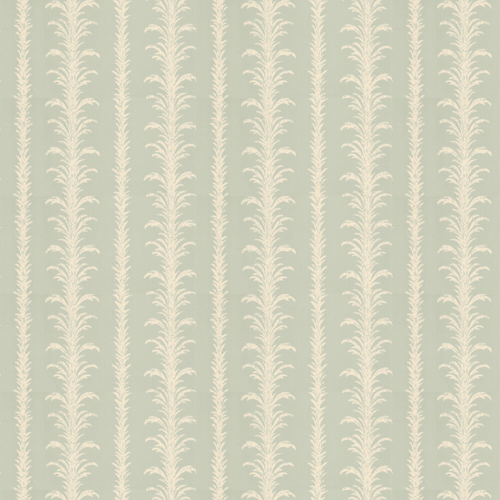 Lauderdale Wallpaper - White / Duck Egg - by Little Greene