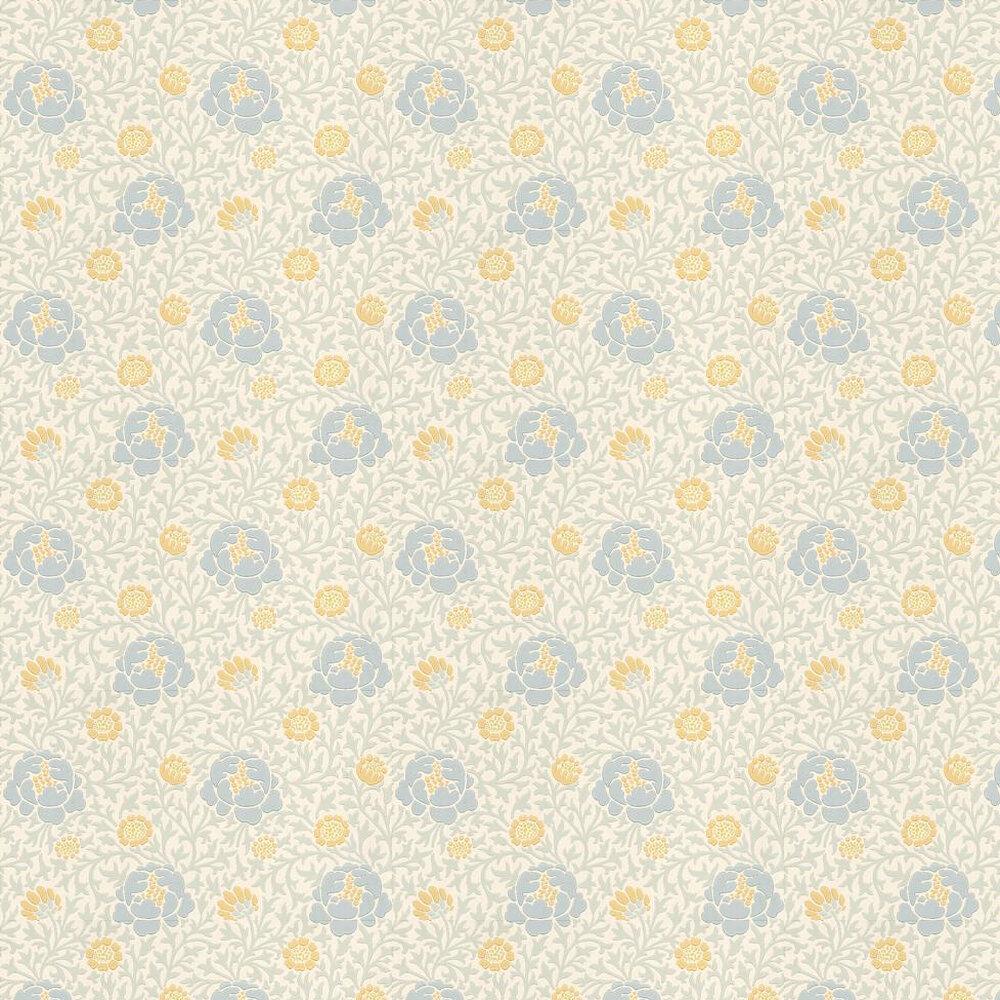 Little Greene Lansdowne Walk Powder Blue / Yellow Wallpaper - Product code: 0273LWMARIG