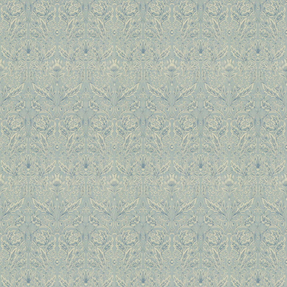 Morris Savernake Blue Wallpaper - Product code: WR8480/3