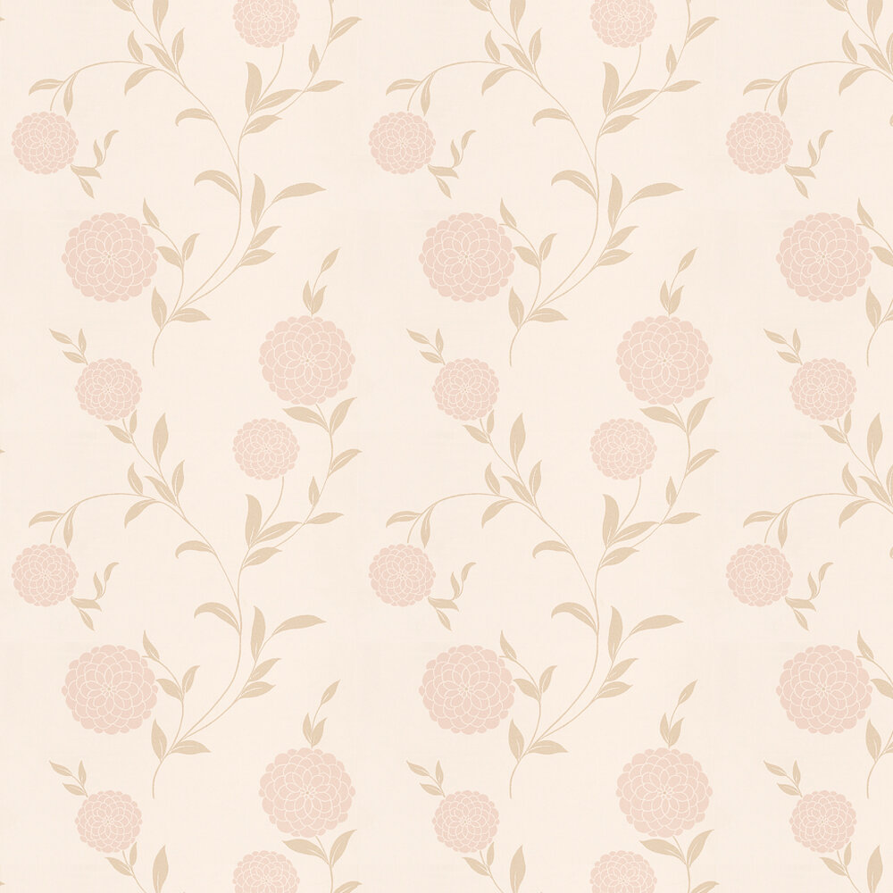 Laura Ashley Erin  Chalk Pink / Gold Wallpaper - Product code: 3260630