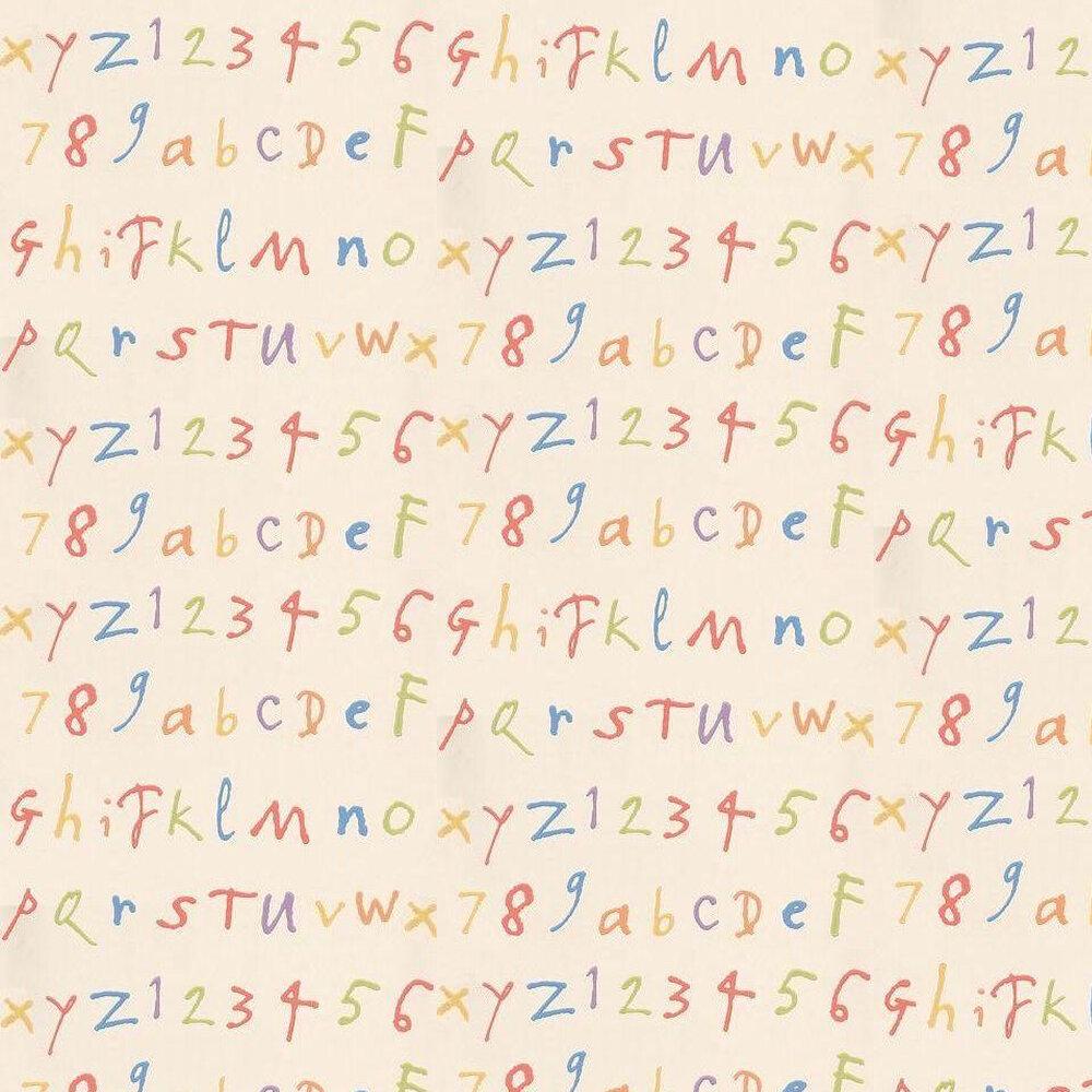 Osborne & Little Quentin's ABC Cream / Multi Wallpaper - Product code: W6062/01