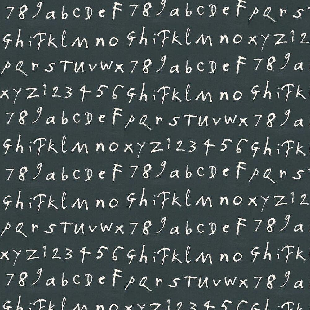 Osborne & Little Quentin's ABC Black / White Wallpaper - Product code: W6062/06
