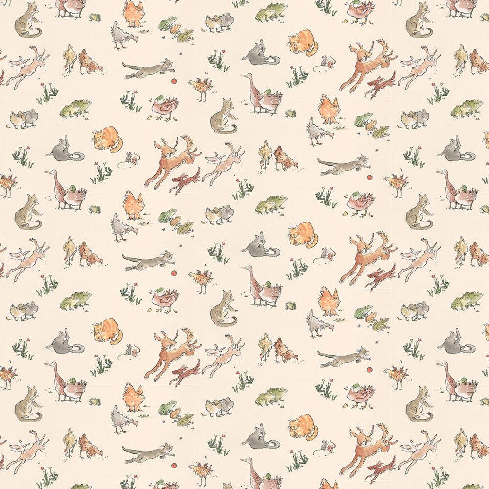 Osborne & Little Quentin's Menagerie Beige / Multi Wallpaper - Product code: W6063/04