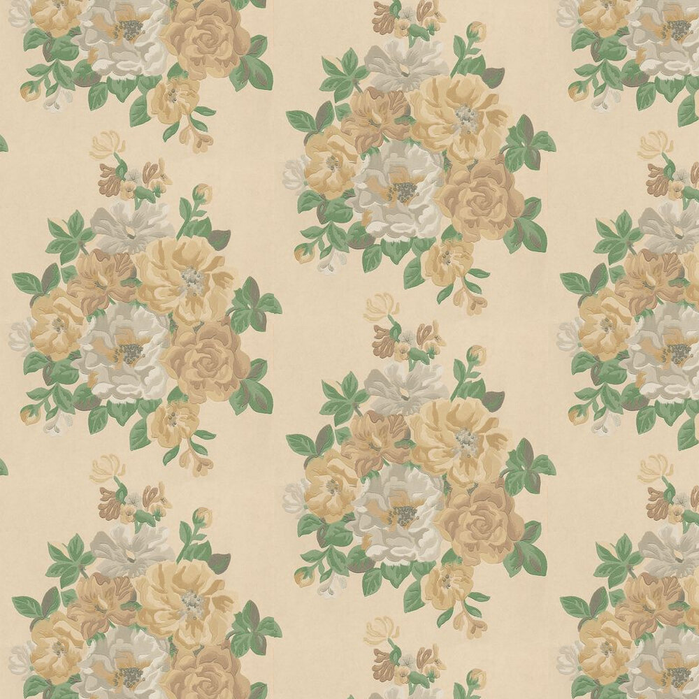 Sanderson Midsummer Rose Yellow / Gold / Cream Wallpaper - Product code: DCAVMI104
