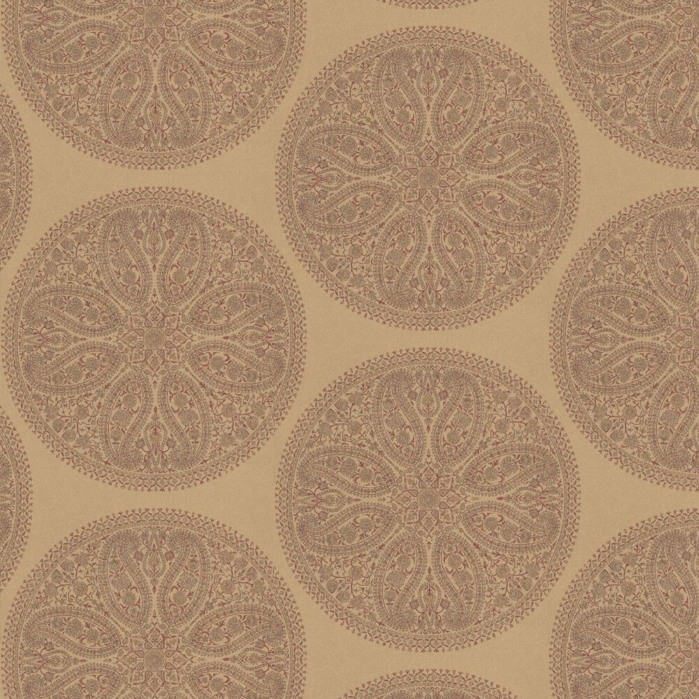 Sanderson Paisley Circles Antique Gold Wallpaper - Product code: DCAVPC101