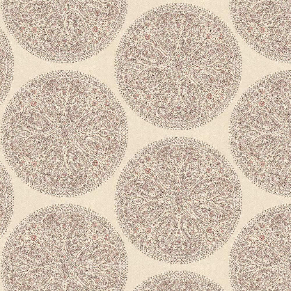 Sanderson Paisley Circles Pink / Lilac / Cream Wallpaper - Product code: DCAVPC104