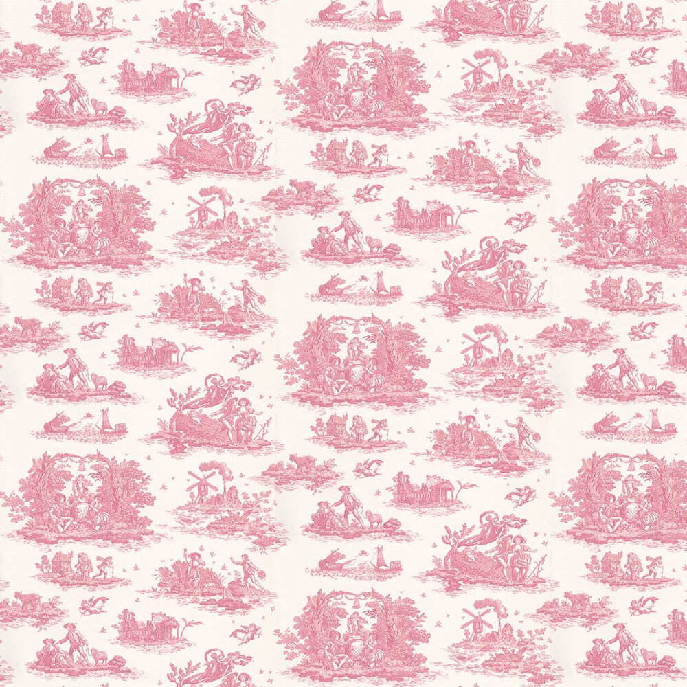Laura Ashley Toile  Cerise  Wallpaper - Product code: 3468788