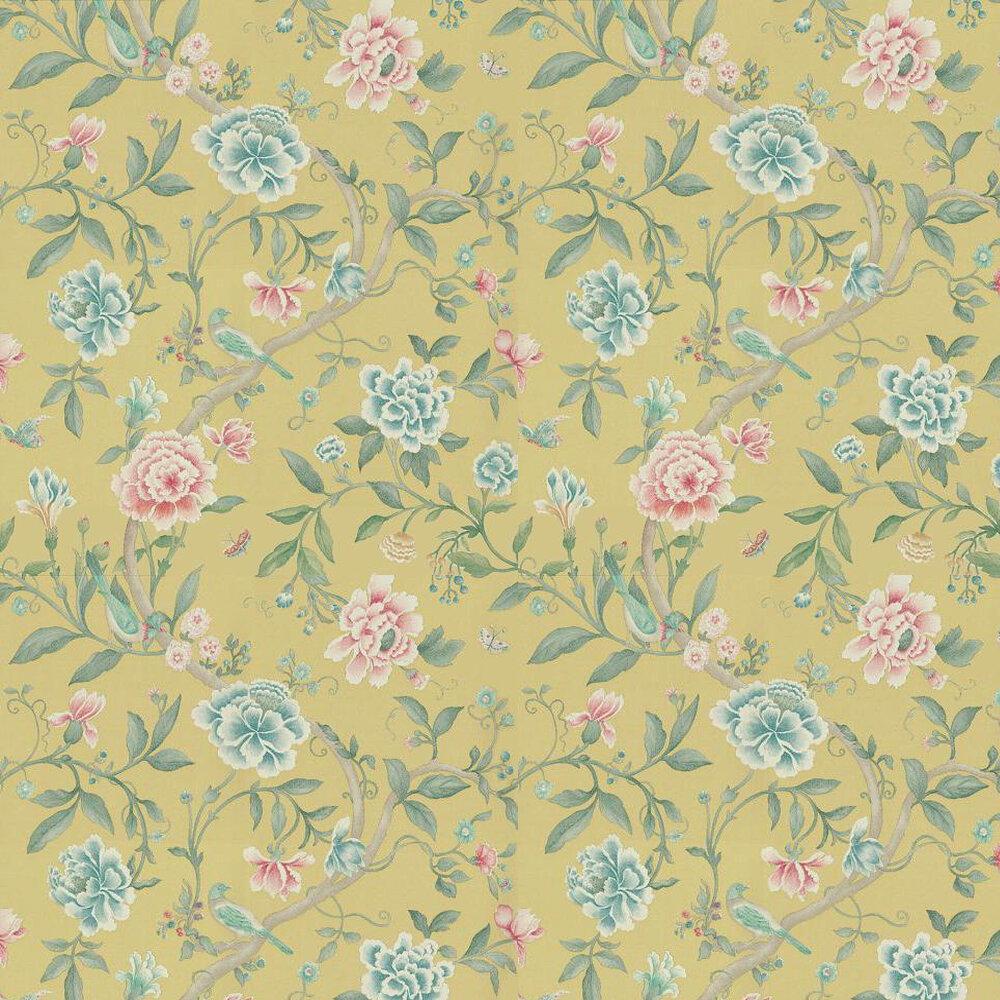 Sanderson Porcelain Garden Rose/Linden Pink / Green Wallpaper - Product code: DCAVPO102