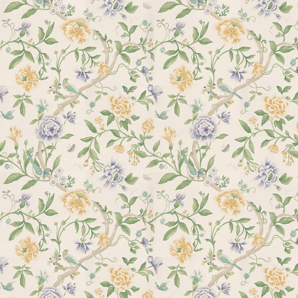 Sanderson Porcelain Garden Lemon/Leaf Green Yellow / Green Wallpaper - Product code: DCAVPO105