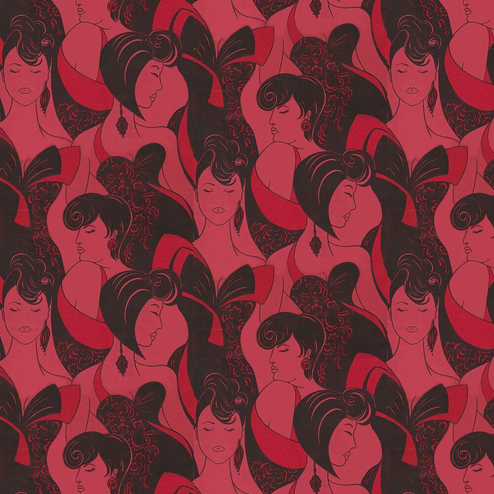 Opus Muras Claudine Dangerous Red Red / Pink Wallpaper - Product code: OMCC09102