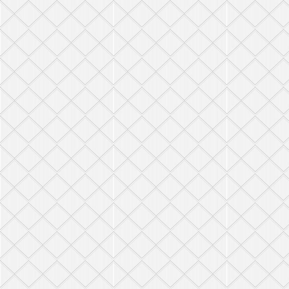 Argyle Wallpaper - Grey / White - by Erica Wakerly