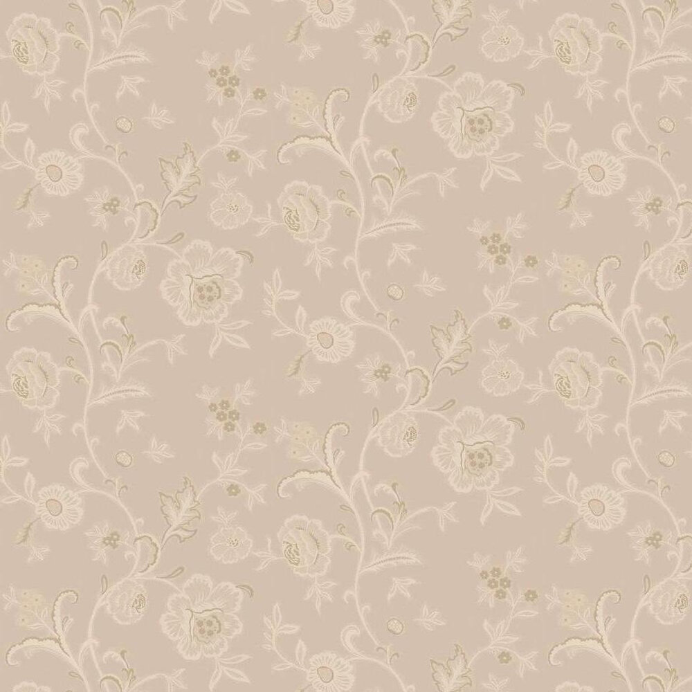 Evoke Wallpaper  - Cream / Light Gold / Silver - by Kandola