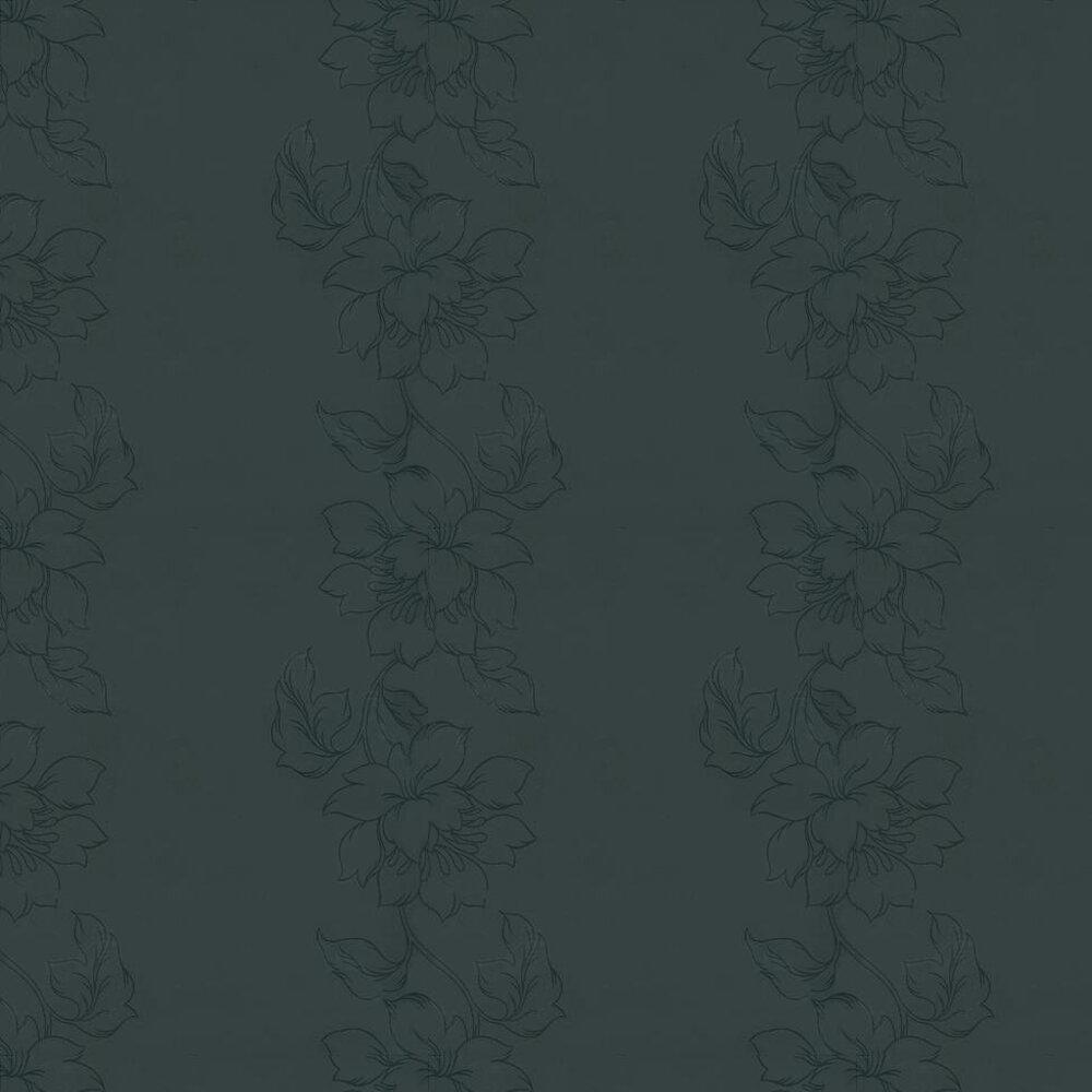 Amati Plain Print Wallpaper  - Black - by Kandola