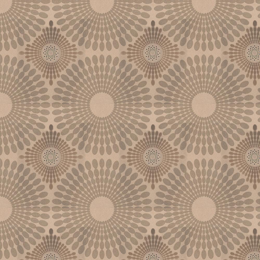 Kandola Starburst Flocked Wallpaper Crystalised  Gold - Product code: W1485/02/CRY